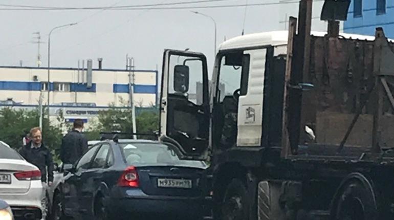 Три машины столкнулись на Кубинской улице