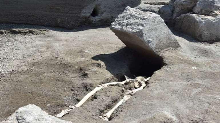 В Помпеях археологи нашли почти не поврежденный череп человека, погибшего во время извержения вулкана Везувий в 79 году нашей эры. Он известен в интернете как