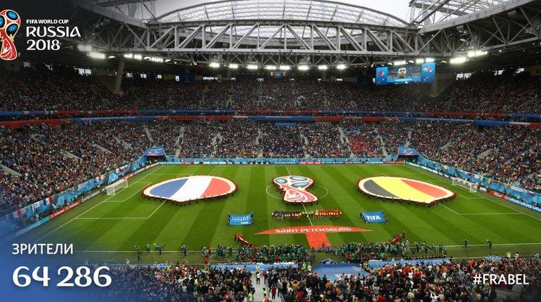 Стадион «Санкт-Петербург» на полуфинале недобрал лишь 200 посетителей