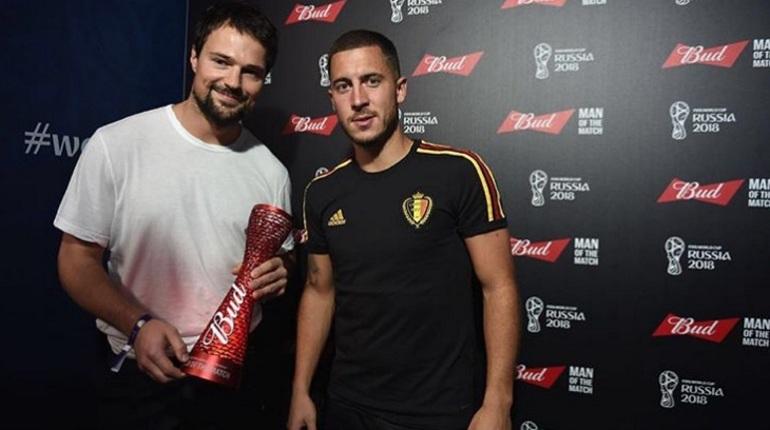 Петербургский актер Козловский вручил приз лучшему игроку матча ЧМ за третье место