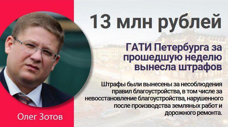 ГАТИ Петербурга за прошедшую неделю вынесла штрафов на 13 млн рублей
