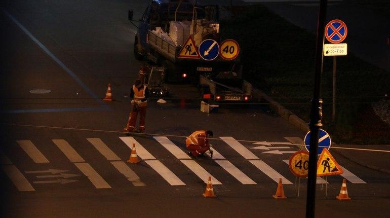 Укладка асфальта по ночам как метод не бесить МВД