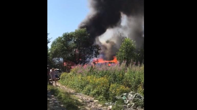 Дым над КАД напугал автомобилистов