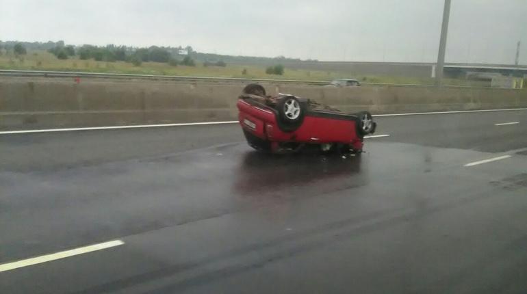 Иномарка осталась без «морды» после ДТП на Киевском шоссе