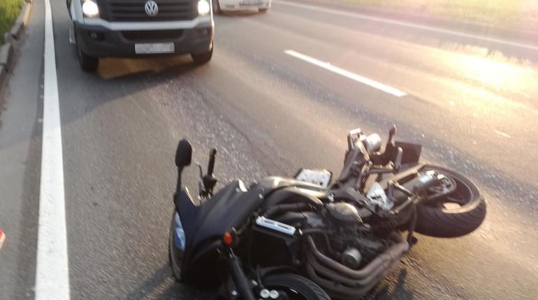 На Шафировском произошло ДТП с мотоциклистом