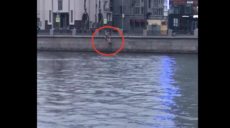 На Пироговской набережной утром спасли пловца