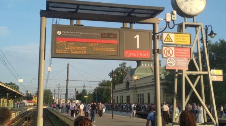 Очевидцы: Витебский вокзал не принимает электрички
