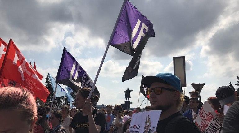 На акцию против пенсионной реформы в Петербурге пришли феминистки