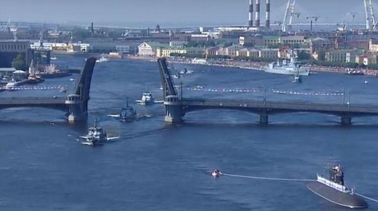 На петербургском военно-морском параде появился корабль-робот
