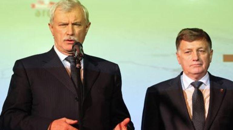 На Дворцовой Полтавченко и Макаров поздравили всех с Днем ВМФ