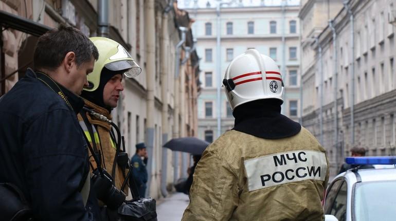 В Петербурге 17 пожарных тушили гараж