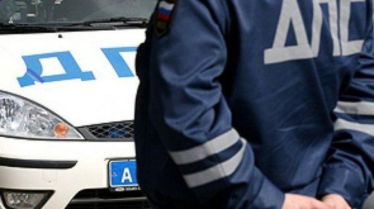 На Киевском шоссе внедоророжник протаранил машину ДПС