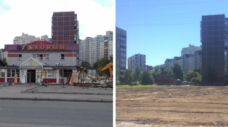 В Приморском районе Санкт-Петербурга Комитет по контролю за имуществом города выявил незаконно размещенный торговый комплекс.