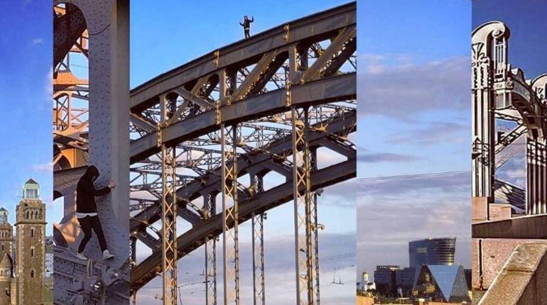 Экстремал прогулялся по вершине Большеохтинского моста