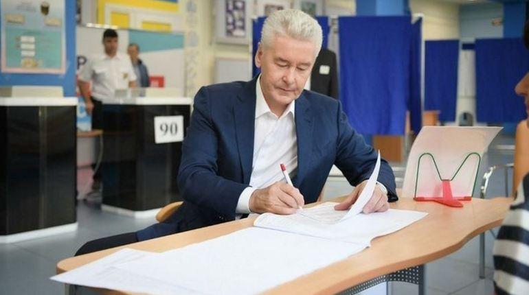 Собянину удалось набрать 70,02% голосов на выборах мэра