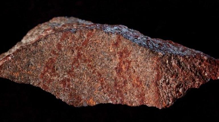 Самый ранний наскальный рисунок, сделанный человеком разумным, найден в южноафриканской пещере. Исследователи полагают, что этому фрагменту картины около 73 000 лет, но недоумевают относительно её предназначения.