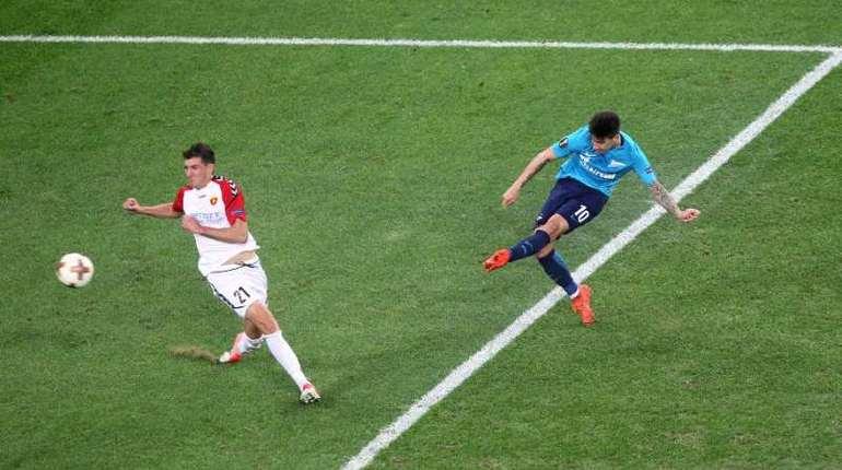 «Зенит» дома одержал победу у«Вардара» вматче Лиги Европы