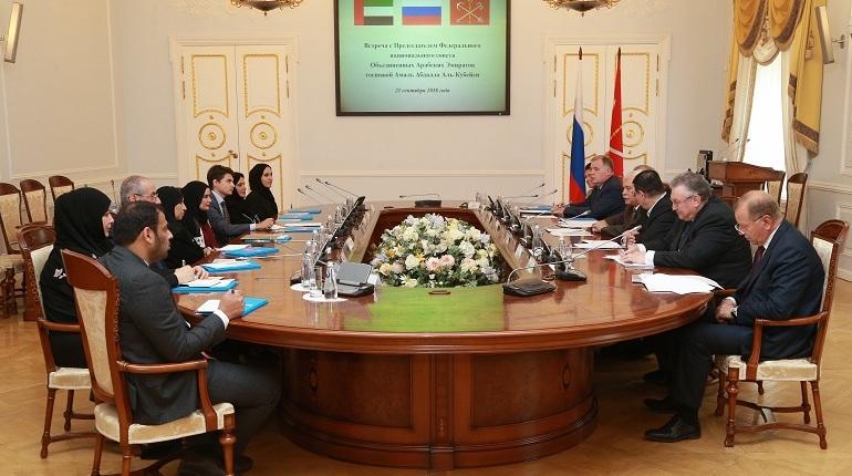 Полтавченко встретился с председателем Федерального национального совета ОАЭ Амаль А. Аль Кубейси