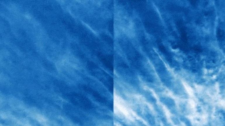 NASA сняло редкие серебристые облака