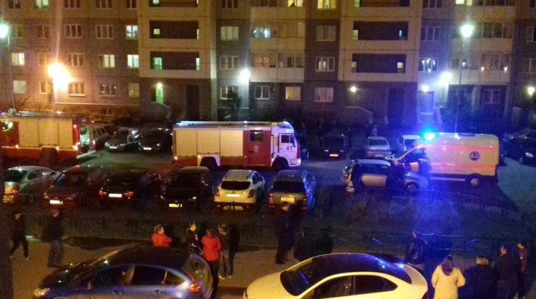 На Ленинском проспекте вечером 22 сентября тушили пожар в квартире. Один из ее жителей надышался угарным газом, с ним работают врачи.