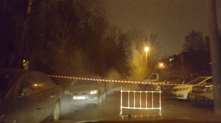 На Будапештской улице рванула труба с кипятком