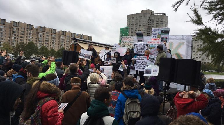 Вишневский насчитал 500 митингующих в защиту парка на Смоленке