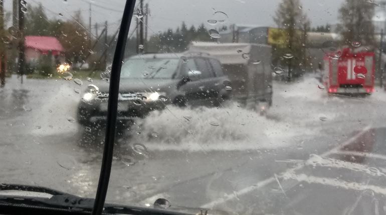 «Наводнение» в Рощино назвали «незначительным подтоплением»