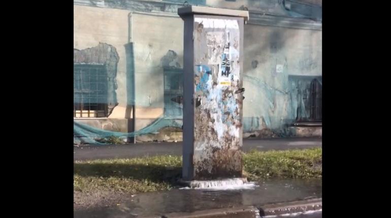 На Прилукской улице в Петербурге прорвало трубу