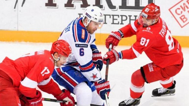 СКА с шестью шайбами разгромил московский «Спартак»