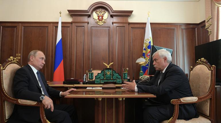 Путин поговорит с Полтавченко в Петербурге