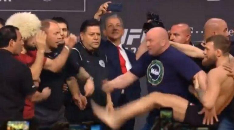 После инцидента, произошедшего после взвешивания Конора Макгрегора и Хабиба Нурмагомедова, президент UFC Дана Уайт взял вину на себя. Напомним, что Макгрегор попытался затеять драку и ударить соперника.