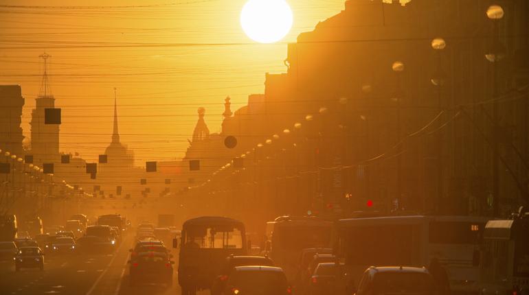 В Петербурге несмотря на осень засияло солнце. С первым днем