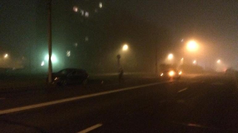 Туман устраивает ДТП в Петербурге