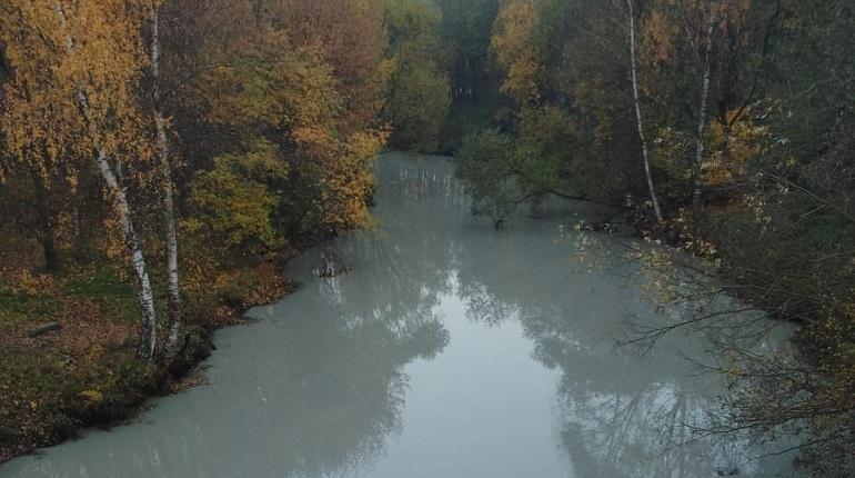 Река Лубья в Петербурге окрасилась в серый цвет, об этом стало известно в четверг, 18 октября.