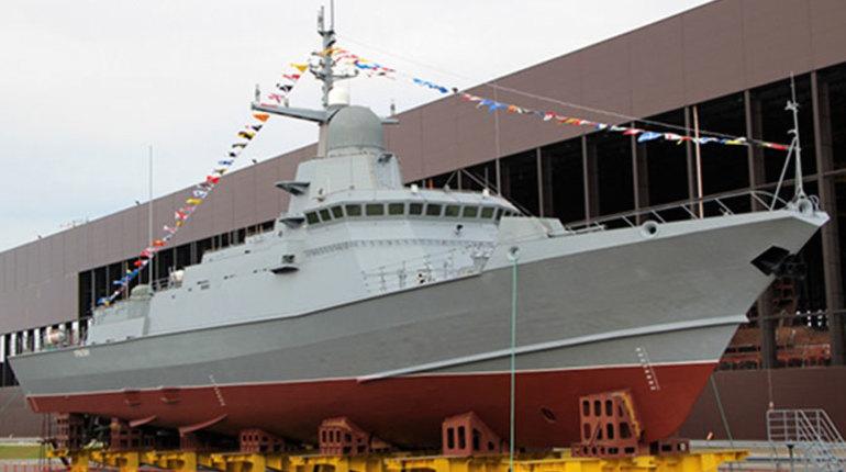 В Петербург пройдет торжественная церемония по спуску на воду малого ракетного корабля