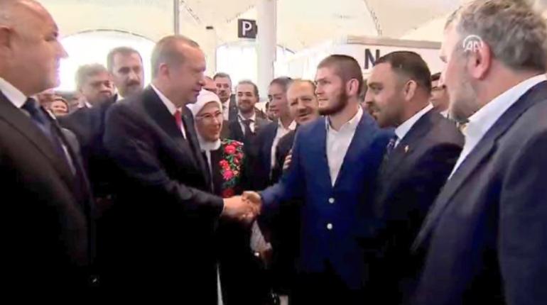 Хабиб встретился с Эрдоганом на открытии нового аэропорта в Стамбуле