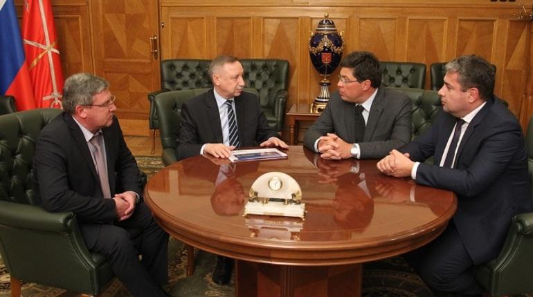Врио губернатора Петербурга Александр Беглов встретился с руководством компании