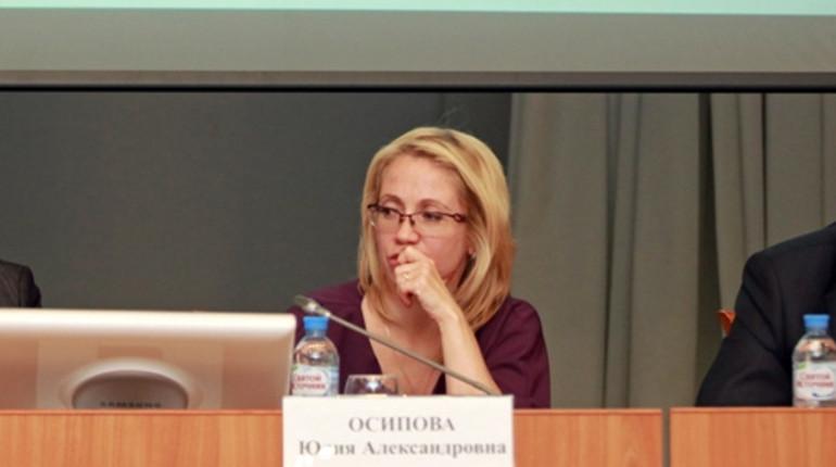 В Петербурге задержана экс-председатель юридического комитета Юлия Осипова. В распоряжении