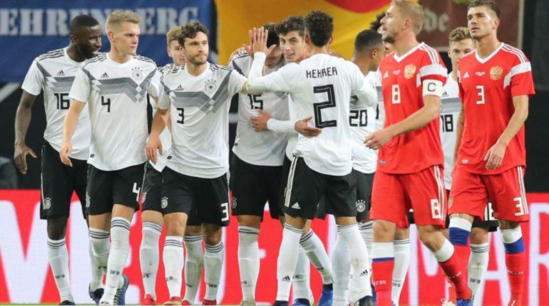 Матч Россия-Германия закончился со счетом 3:0 в пользу немцев