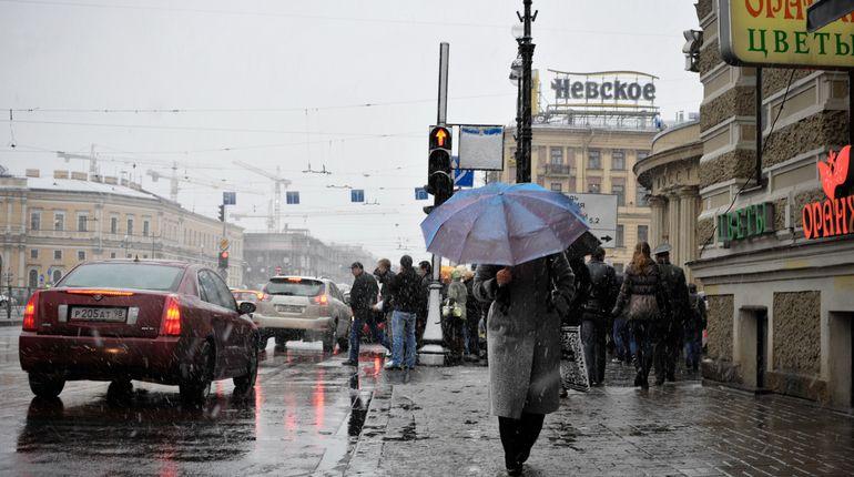 Снегопад вПетербурге продолжится, однако уже сдождём