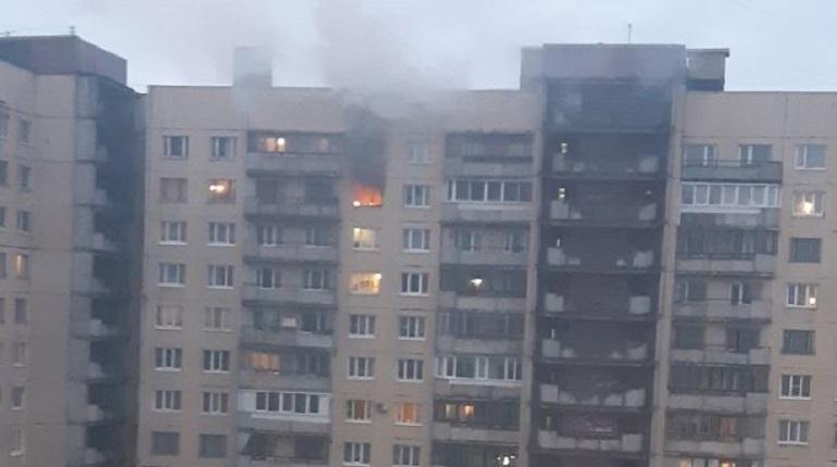 Утром в квартире «многоэтажки», находящейся на Малой Балканской, 58 в Петербурге, начался пожар. В сети появились кадры с места происшествия.