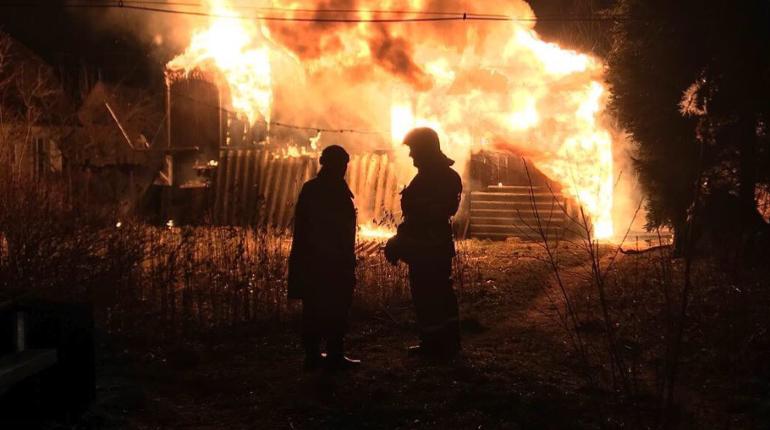 Дачный дом сгорел в садоводстве