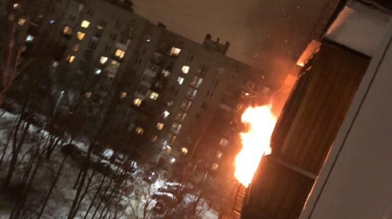 В Петербурге 3 декабря в доме №3 на Авангардной улице загорелась квартира. По словам очевидцев, пожар произошел в квартире №97 на 7 этаже.