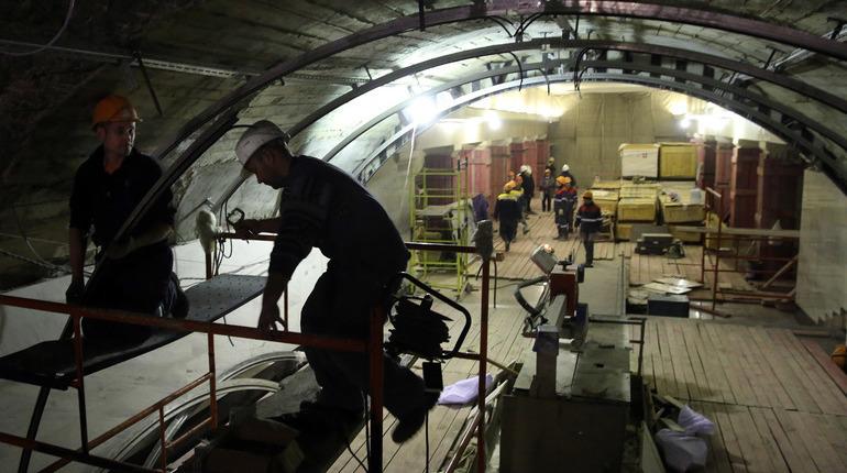 Строительство Фрунзенского радиуса продолжается полным ходом. Об этом сообщили в пресс-службе