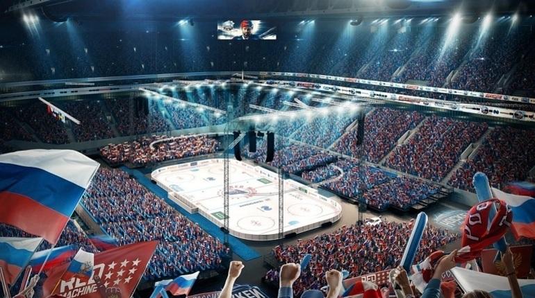 Макет стадиона «Санкт-Петербург» в хоккейной конфигурации представлен на официальном сайте и на страничках в социальных сетях Федерации хоккея России.