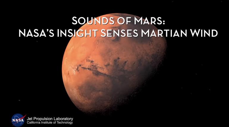 Шум ветра на Марсе попал на завись межпланетной американской станции Mars InSigh. Звук был отправлен на Землю, сообщил 7 декабря в твиттере директор NASA Джим Брайденстайн.