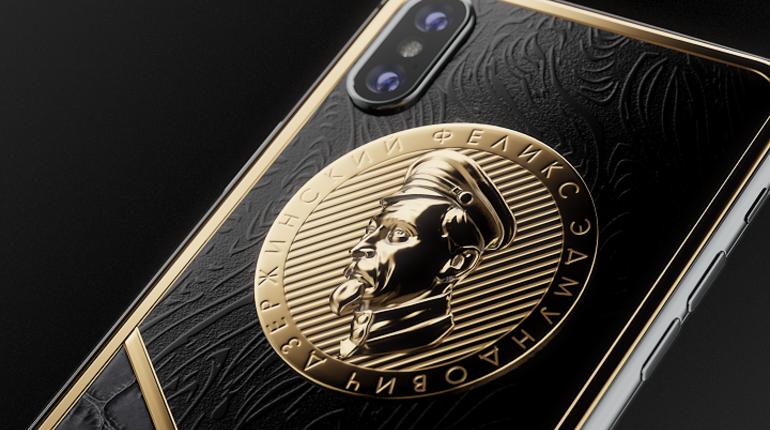 Для ФСБ выпустили золотой iPhone X с «железным Феликсом»